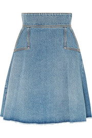 Alexander McQueen Pleated denim mini skirt
