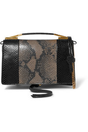 Stella McCartney Python-effect faux leather shoulder bag