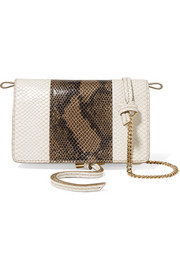 Stella McCartney Two-tone faux python shoulder bag