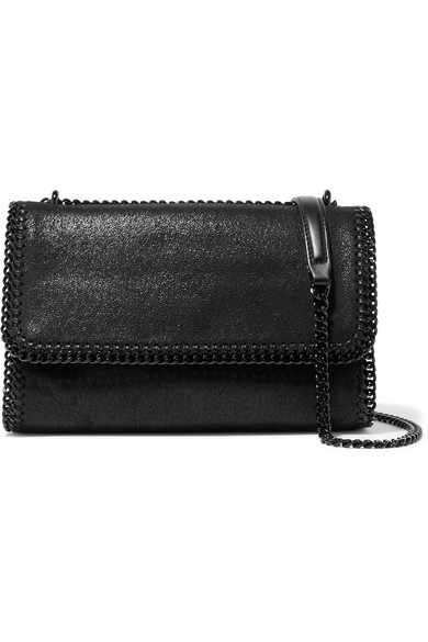 The Falabella Faux Brushed Leather Shoulder Bag by Stella Mc Cartney