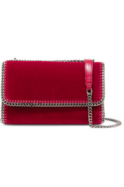Stella McCartney The Falabella velvet shoulder bag