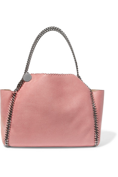 The Falabella Medium Reversible Faux Brushed-Leather Tote, Light Pink