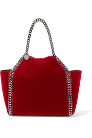 Stella McCartney The Falabella small reversible velvet tote