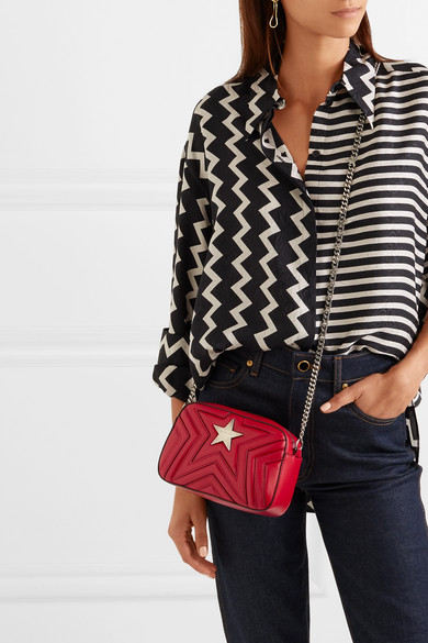 Stella McCartney. Star quilted faux leather shoulder bag f7d2df32832ca