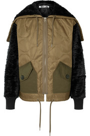 Shearling and felt-trimmed quilted shell jacket