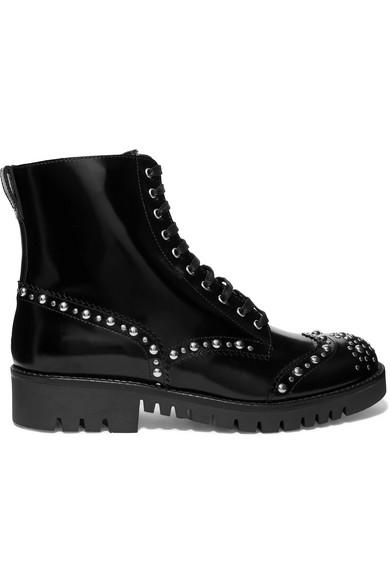 Mcq Alexander Mcqueen Black Bess Derby Boots