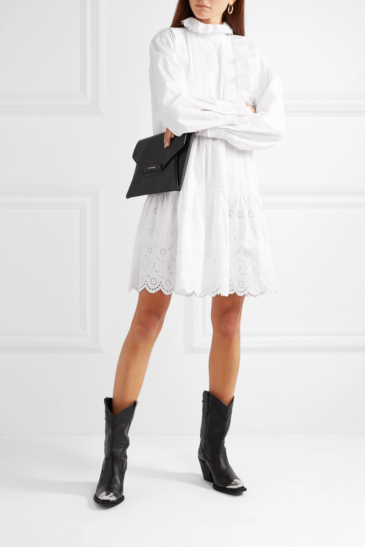 McQ Alexander McQueen Ruffled broderie anglaise cotton mini dress