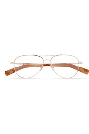 TOM FORD Aviator-style rose gold-tone optical glasses