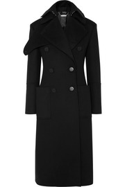 Alexander McQueen Layered double-breasted wool-felt coat