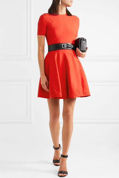 Alexander Mcqueen Dress Stretch-jacquard mini dress