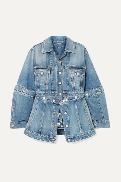 Deconstructed Denim Jacket in Blue