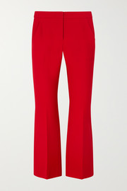 Cropped wool-blend flared pants