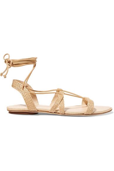 e6b5efaa5f6d Cult Gaia. Sienna woven raffia and leather sandals