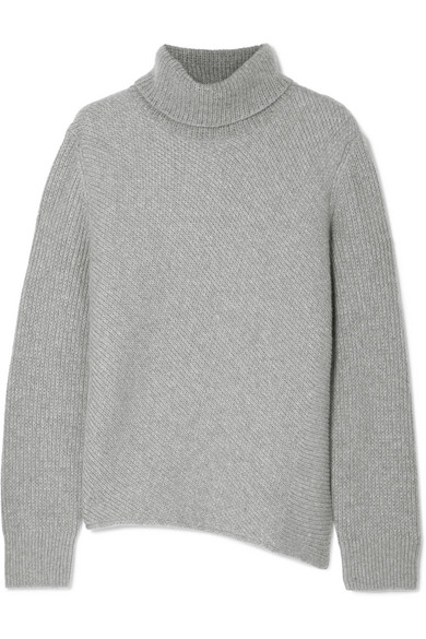 CEDRIC CHARLIER RIBBED WOOL AND CASHMERE-BLEND TURTLENECK SWEATER