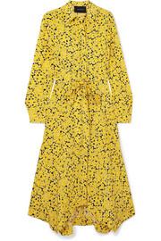 Asymmetric floral-print silk crepe de chine midi dress by Cédric Charlier, available on net-a-porter.com for $1695 Priyanka Chopra Dress SIMILAR PRODUCT