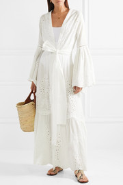 Broderie anglaise cotton maxi dress