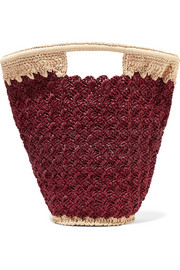 Carrie Forbes Lily woven faux raffia bucket bag