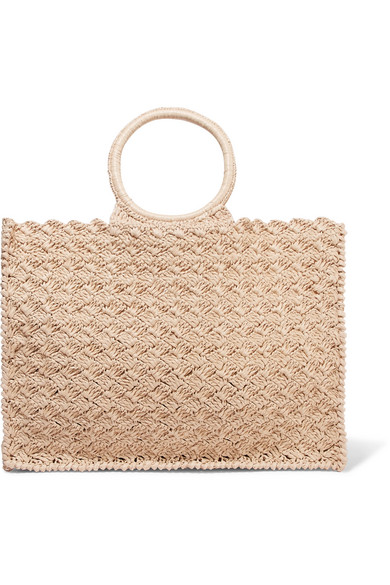 CARRIE FORBES Marisa Raffia Tote in Neutral