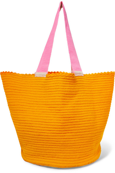 SOPHIE ANDERSON Jonas Woven Tote in Orange