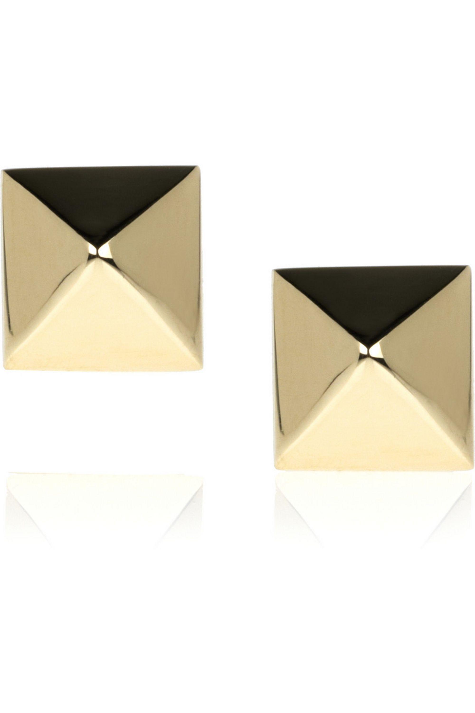 Anita Ko Spike 14-karat gold stud earrings