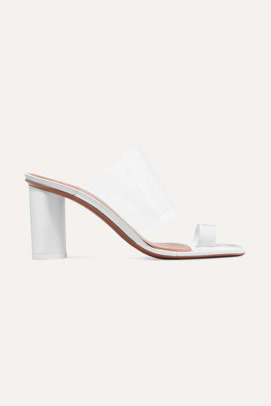 Chost Transparent Sandals With Leather in White