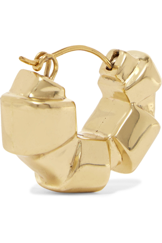 Ellery Futile gold-plated hoop earrings
