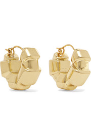Ellery Futile gold-plated hoop earrings