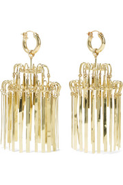Ellery Veil XL Chandelier gold-plated earrings