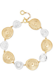 Ellery Superflat gold and silver-plated choker