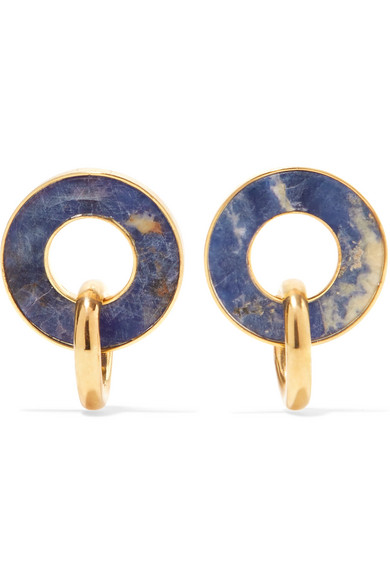 PAOLA VILAS Constantin gold-plated sodalite earrings
