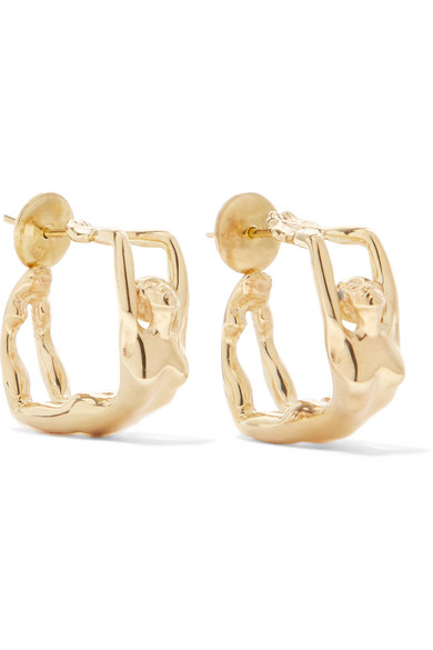 PAOLA VILAS Louise Gold-Plated Earrings