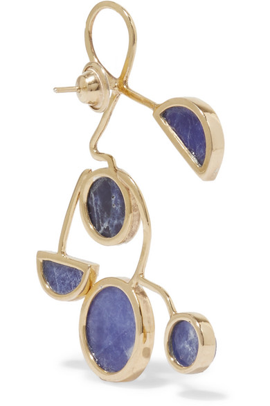 PAOLA VILAS Ray Gold-plated Sodalite Earrings - Blue tpthg0y