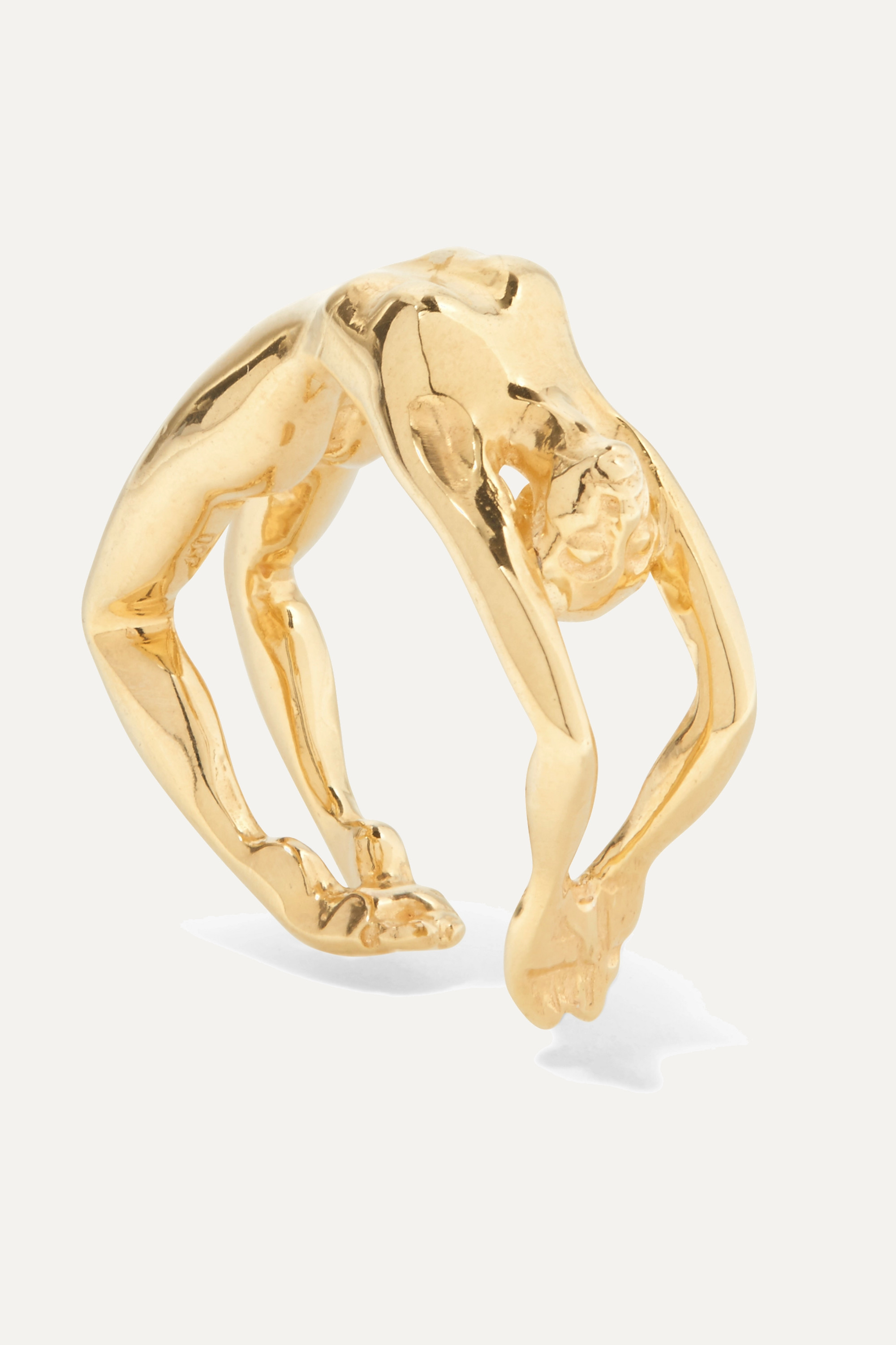 Paola Vilas Louise gold-plated ring