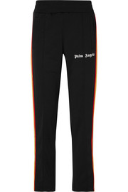 Palm Angels Striped satin-jersey track pants