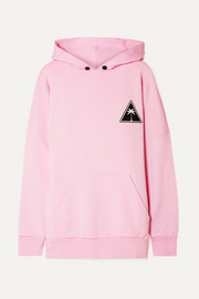 Palm Angels Printed cotton-jersey hooded top