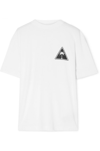 Oversized Printed Cotton Jersey T Shirt by Palm Angels