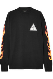 Palm Angels Printed cotton-jersey sweatshirt