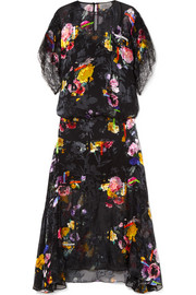 Preen by Thornton Bregazzi Leonora floral-print devoré silk-blend chiffon midi dress