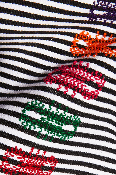 Pippa Holt Gestreifter Kaftan aus Baumwolle mit Stickereien