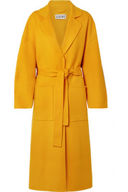 Loewe Oversized belted wool and cashmere-blend coat