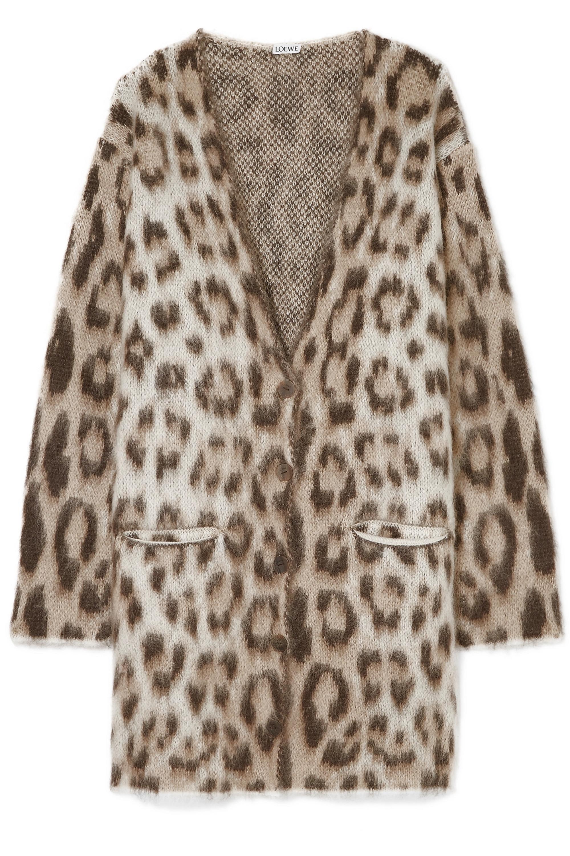 Loewe Oversized mohair-blend jacquard cardigan