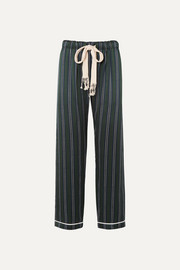 Loewe Striped silk-charmeuse wide-leg pants