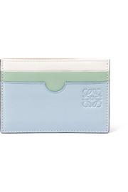 Loewe + Paula's Ibiza color-block textured-leather cardholder