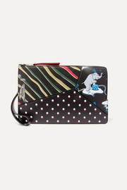 Loewe + Paula's Ibiza printed textured-leather pouch