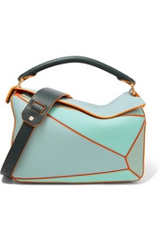 Loewe + Paula's Ibiza Puzzle color-block textured-leather shoulder bag