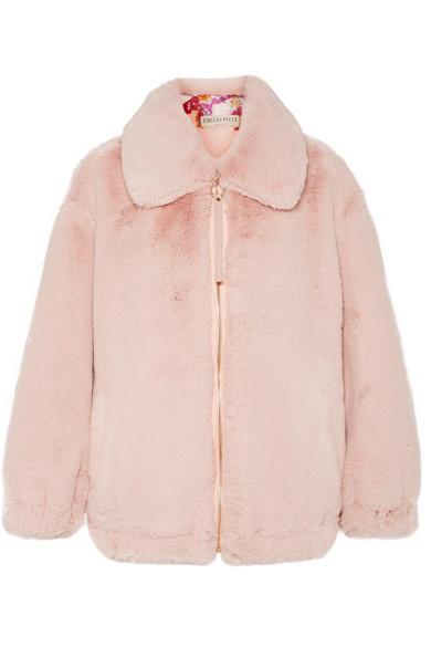 Emilio Pucci - Oversized Faux Fur Jacket - Pink
