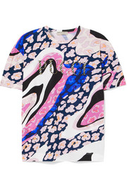 Emilio Pucci Glittered printed cotton-jersey T-shirt