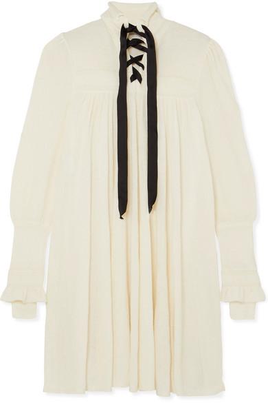 Philosophy di Lorenzo Serafini - Lace-up Knitted Dress - White