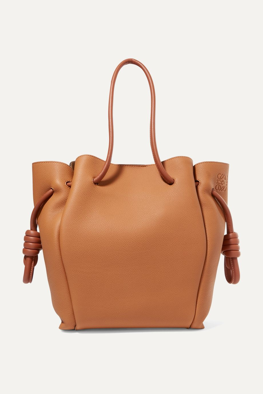 Loewe Flamenco small textured-leather tote