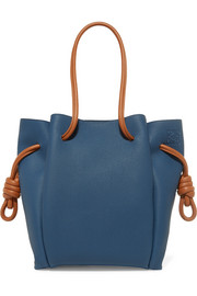 Flamenco small textured-leather tote